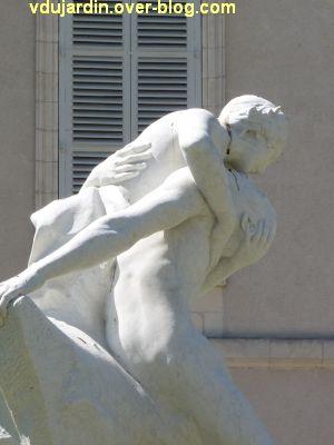 Héro et Landre par Pierre Laurent à La Rochelle, 7, l'enlacement