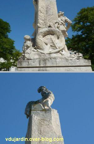 La Rochelle, monument aux soldats et marins, 7, ancre et coq