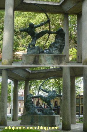 Herakles archer de Bourdelle à Toulouse, 02, vues de face et de dos