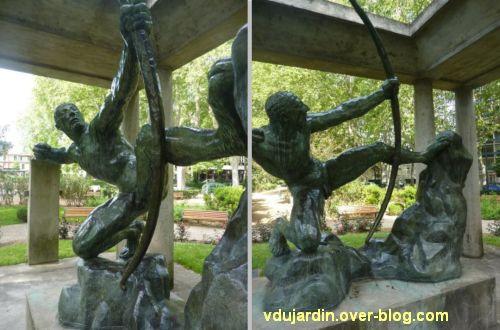 Herakles archer de Bourdelle à Toulouse, 05, deux vues de profil