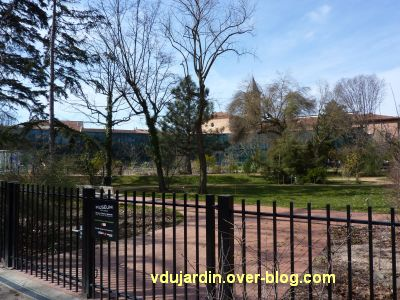 Le muséum de Toulouse, façade côté jardin