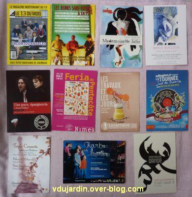 Capucine en mai-juin 2012, 6, cartes à publicité