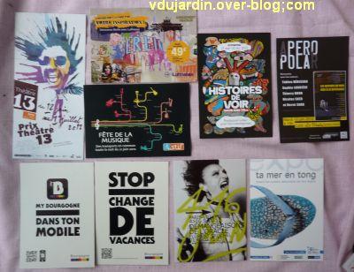Capucine en mai-juin 2012, 7, cartes à publicité