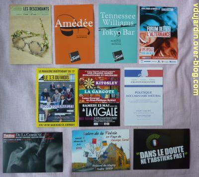 Capucine en mai-juin 2012, 1, cartes à publicité