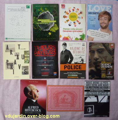 Cartes à publicité reçues de Flo en 2012, 2