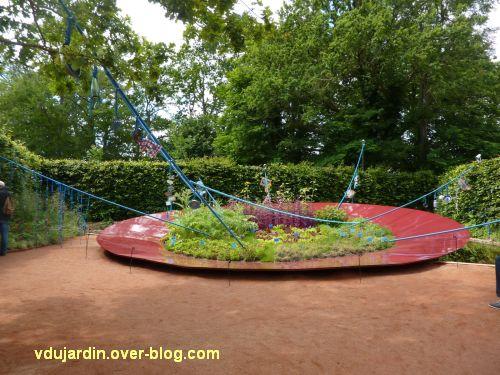 Chaumont-sur-Loire, festival des jardins 2012, jardin 13, 1, vue générale