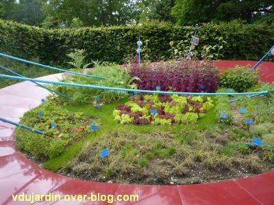 Chaumont-sur-Loire, festival des jardins 2012, jardin 13, 2, légumes au centre