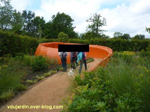 Chaumont-sur-Loire, festival des jardins 2012, jardin 14, 1, vue depuis l'entrée