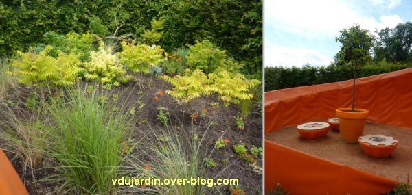 Chaumont-sur-Loire, festival des jardins 2012, jardin 14, 2, les plantes et le coin table