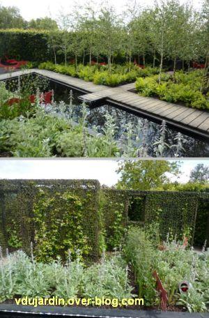 Chaumont-sur-Loire, festival des jardins 2012, jardin 16, 2, bassin et mur camouflé
