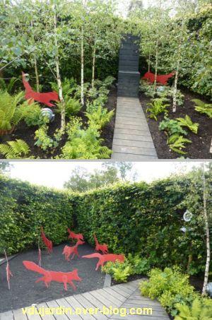 Chaumont-sur-Loire, festival des jardins 2012, jardin 16, 3, les renards rouges ici et là