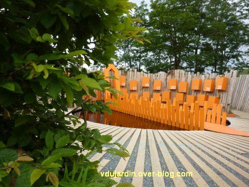 Chaumont-sur-Loire, festival des jardins 2012, jardin 21, 1, vue depuis l'entrée
