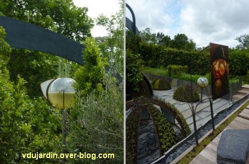 Chaumont-sur-Loire, festival des jardins 2012, jardin 4, 2, cloches et boules