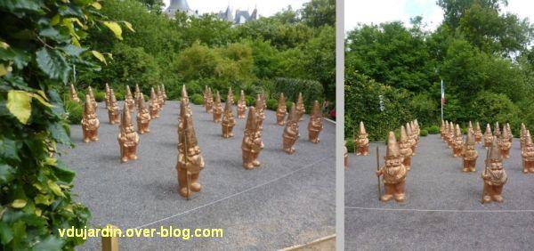 Chaumont-sur-Loire, festival des jardins 2012, jardin 4bis, armée de nains de jardin