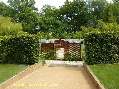 Chaumont-sur-Loire, festival des jardins 2012, jardin 9, 1, vue depuis l'entrée