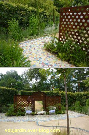 Chaumont-sur-Loire, festival des jardins 2012, jardin 9, 2, deux vues avec la claustra