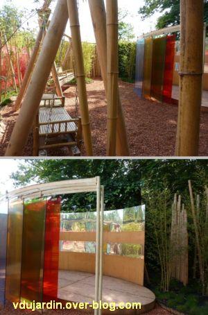 Chaumont-sur-Loire, festival des jardins 2012, jardin 12, 3, bambous et miroirs déformants