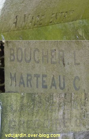 Le monument aux morts de Loudun,3, la signature des entrepreneurs