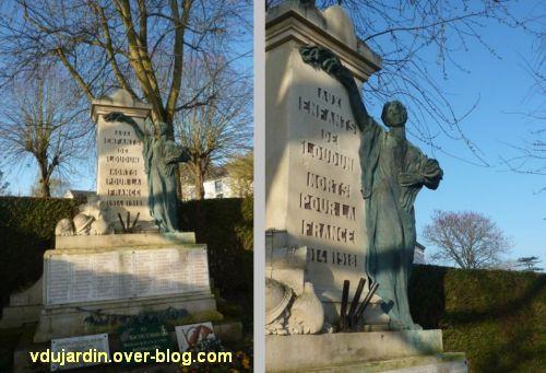 Le monument aux morts de Loudun, 4 deux vues plus proches du monument