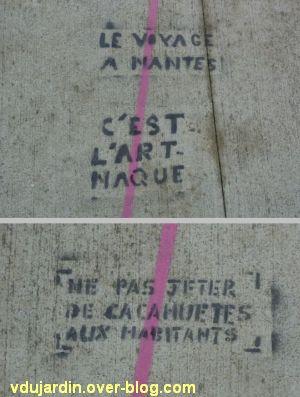 Le voyage à Nantes 2012, 09, deux messages hostiles sur le fil