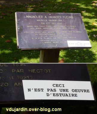 Le voyage à Nantes 2012, 10, un message humoristique au jardin des plantes