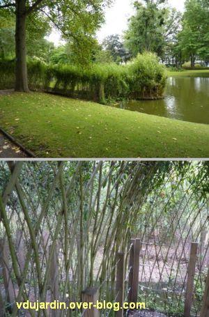 Nantes 2012, le jardin des plantes, 02, cabane en osier sur l'eau