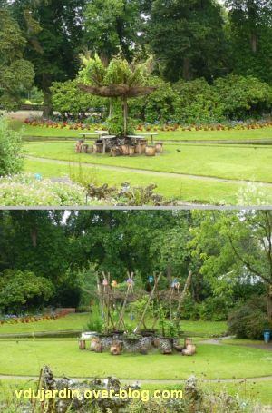 Nantes 2012, le jardin des plantes, 04, détail des deux îlots de verdure
