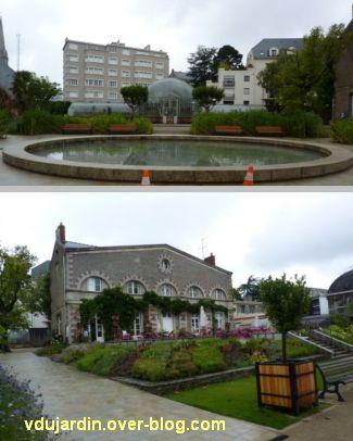 Nantes 2012, le jardin des plantes, 07, bassin, bâtiments et parterres