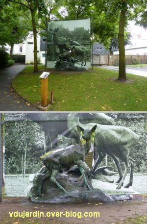 Nantes 2012, l'art au jardin des plantes, 4, le cerf revisité