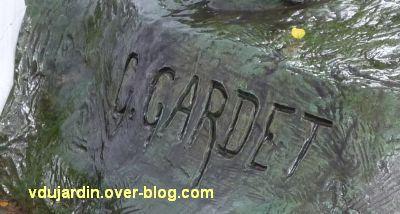 Nantes 2012, l'art au jardin des plantes, 5, la signature de Gardet