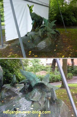 Nantes 2012, l'art au jardin des plantes, 6, l'arrière du groupe sculpté