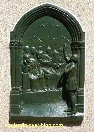 Poitiers, restauration de la plaque de Jeanne-d'Arc, 2, la plaque restaurée