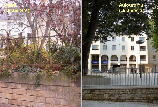 Poitiers, actualité juillet 2012, grilles du square de la République avant et après coeur d'agglo