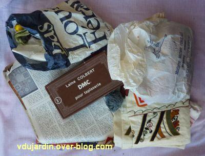 Achat à la brocante, août 2012, sac à ouvrage, 2, le contenu du sac