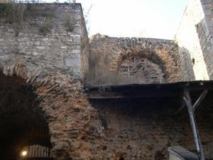 Les arènes rue Bourcani à Poitiers, les boisages