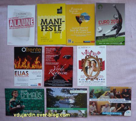 Capucine en juillet 2012, cartes à publicité, 1