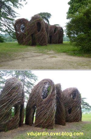 Chaumont-sur-Loire 2012, art, 5, deux vues de l'oeuvre de Dougherty