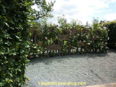 Chaumont-sur-Loire, festival des jardins 2012, jardin 07, 1, les roses de l'entrée