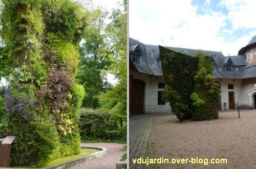 Chaumont-sur-Loire, festival des jardins 2012, les murs végétaux
