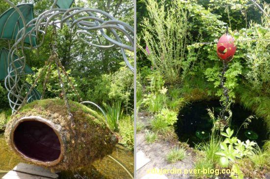 Chaumont-sur-Loire, festival des jardins 2012, jardin 15, 2, détail de deux cocons