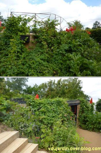 Chaumont-sur-Loire, festival des jardins 2012, jardin 18, 3, deux vues de la structure centrale