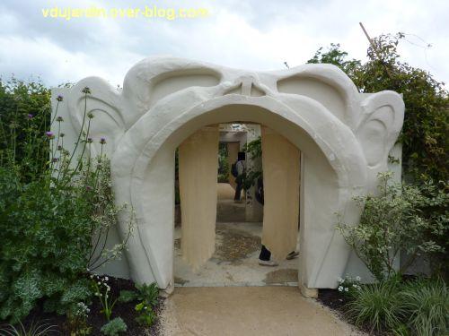 Chaumont-sur-Loire, festival des jardins 2012, jardin 23, 1, entrée dans la bouche