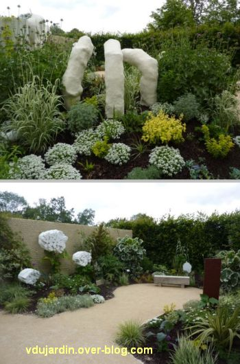 Chaumont-sur-Loire, festival des jardins 2012, jardin 23, 4, plantes et morceaux de corps