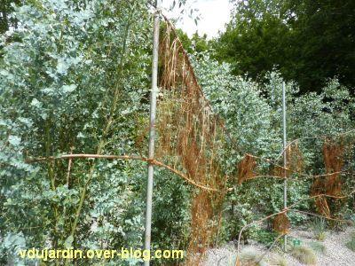 Chaumont-sur-Loire, festival des jardins 2012, jardin 2, 2, décoration avec du cuivre