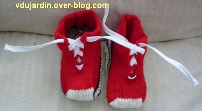 Des chaussons rouges terminés, version provisoire