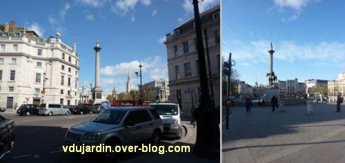 Colonne de Nelson à Trafalgar Square, Londres, 01, deux vues générales