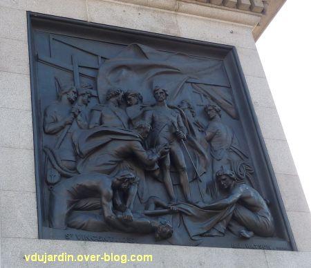 Colonne de Nelson à Trafalgar Square, Londres, 05, la bataille de Saint-Vincent