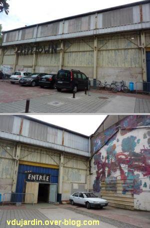 Au centre de l'île de Nantes, 2012, 07, crête-town dans la halle Halstom