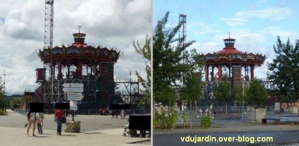 L'ouest de l'île de Nantes 2012, 02, le grand carrousel en construction