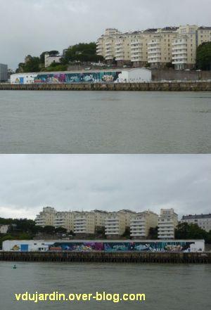Nantes, art dans la rue, 03, grande oeuvre collective ur le hangar 12 devant les HBM